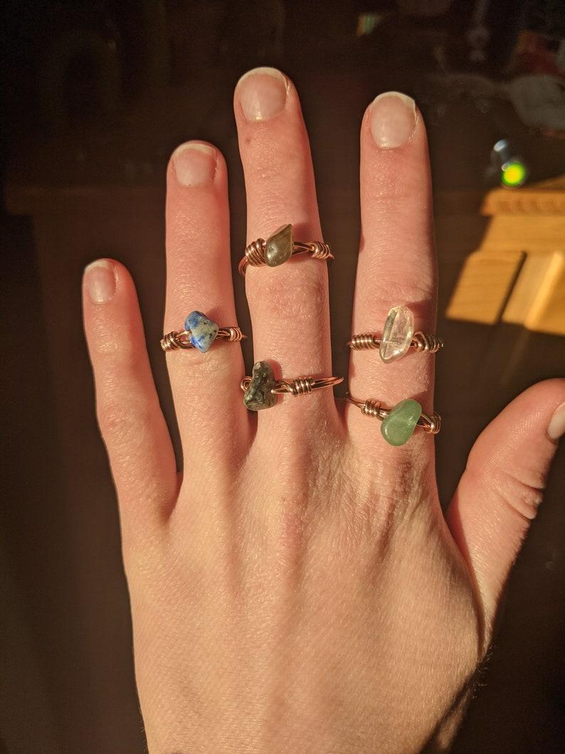 Bronze Crystal Ring