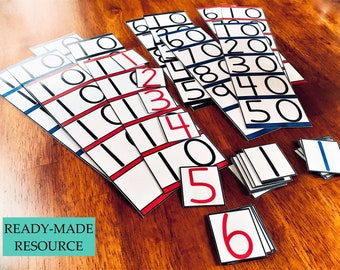 Montessori Inspired Teens and Tens Boards with Digit Cards [Ready-Made Premium Laminated Cardstock]