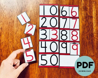 Montessori Inspired Teens and Tens Boards with Digit Cards [PDF Digital Download]