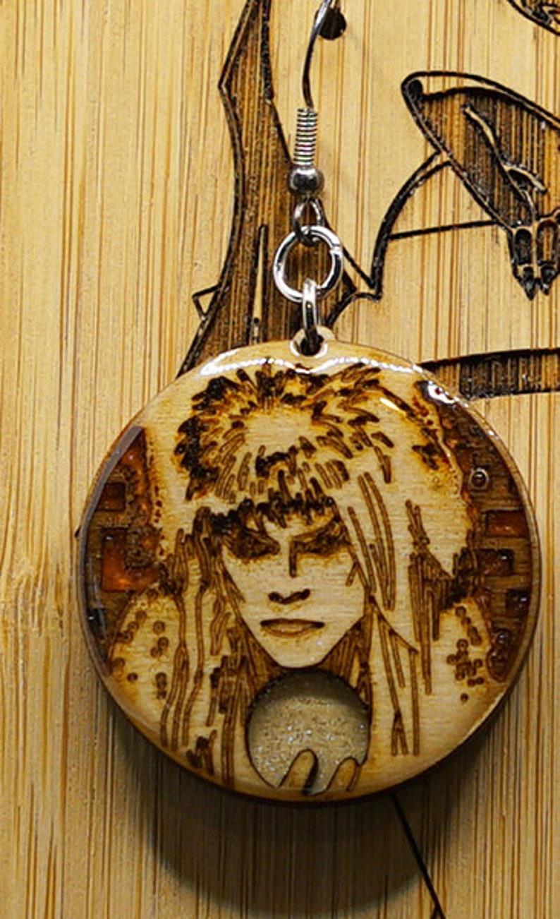 as the world falls down 2xJareth Handmade Earrings Labryinth Jareth David Bowie