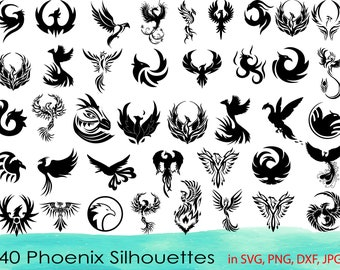 for cricut and silhouette cake topper svg instant download Phoenix 8 svg files png ai cdr