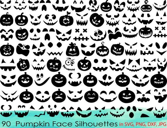 90 Pumpkin Face SVG BundlePumpkin Face ClipartPumpkin Face