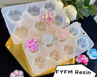 Club Mold Kitty Mold Spade mold Meow Mold Cat Mold Silicone Mold Set Mini Silicon Motif Molds for UV Resin Polymer Clay Resin Clay