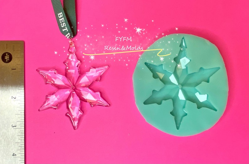 US stock!Handmade Crystal Snowflake Mold ONLY,Christmas Tree Snowflake Mold,Christmas Decoration Silicone Mold-Resin Mold-Unique Design Mold