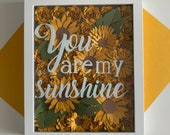 Sunflower Shadow Box, For Men and Women, For Birthdays Anniversary WeddingsSunflower Shadow box