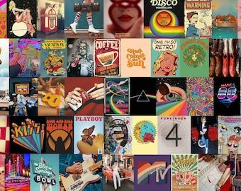 80pcs Rock n' Roll PRINTED Vintage Retro Collage