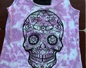 Tie dye Sugar Skull
