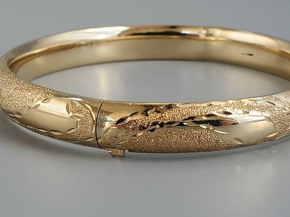 Vintage 14K Gold Cuff Bracelet - Fine Jewelry 14K