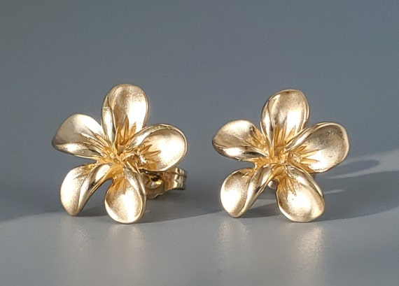 Vintage 14K Gold Stud Earrings - Fine Jewelry 14K