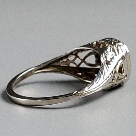 Edwardian Diamond Solitaire Engagement 14K Gold R… - image 5