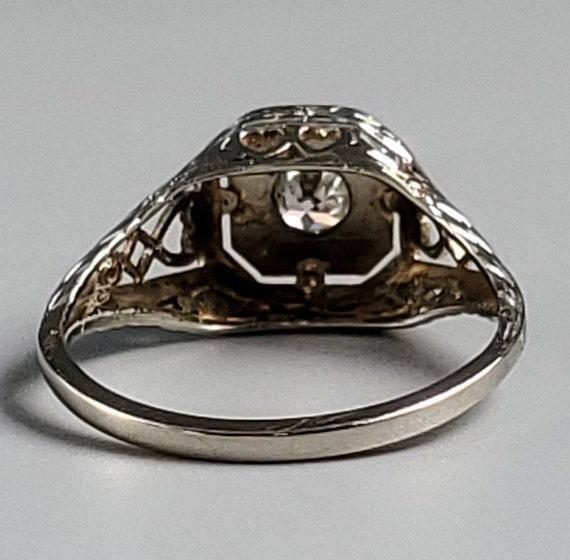 Edwardian Diamond Solitaire Engagement 14K Gold R… - image 6