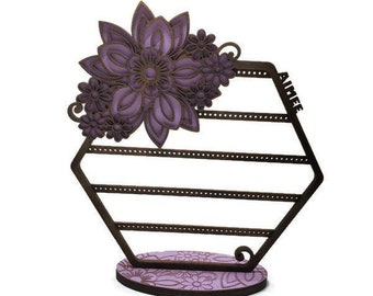 Flower Earring Stand Etsy