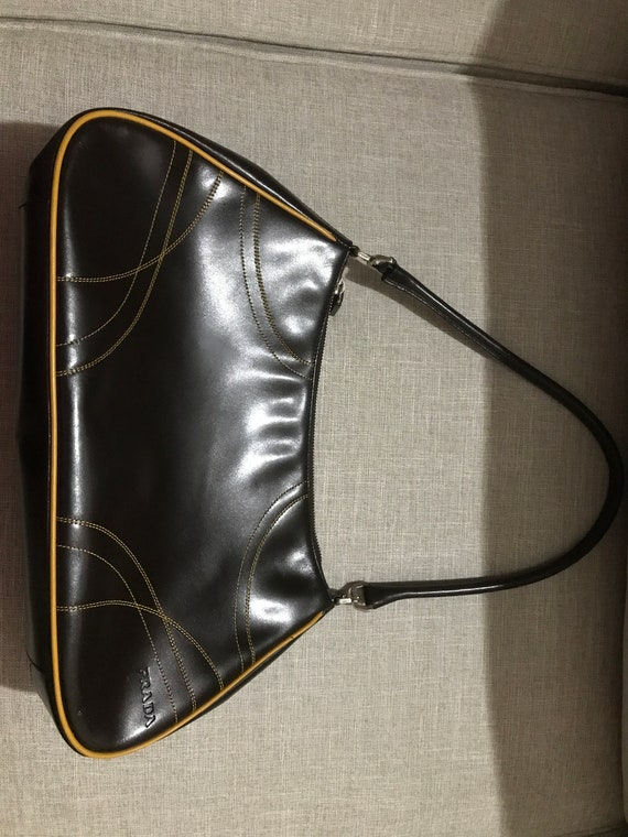 Vintage Prada Handbag leather 1990s good condition