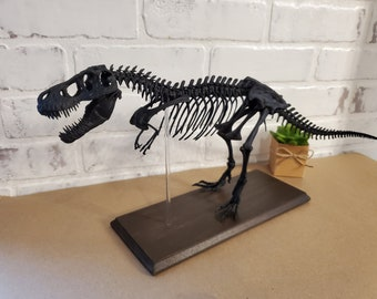 T. Rex Skeleton Decoration in Matte Black