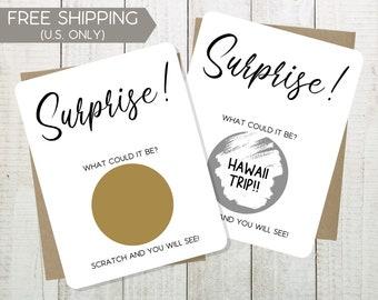 Surprise Scratch Off Card, Custom Scratch Card, Personalized Reveal Scratch Card, Birthday Scratch Off Ticket, Scratch To Reveal Card
