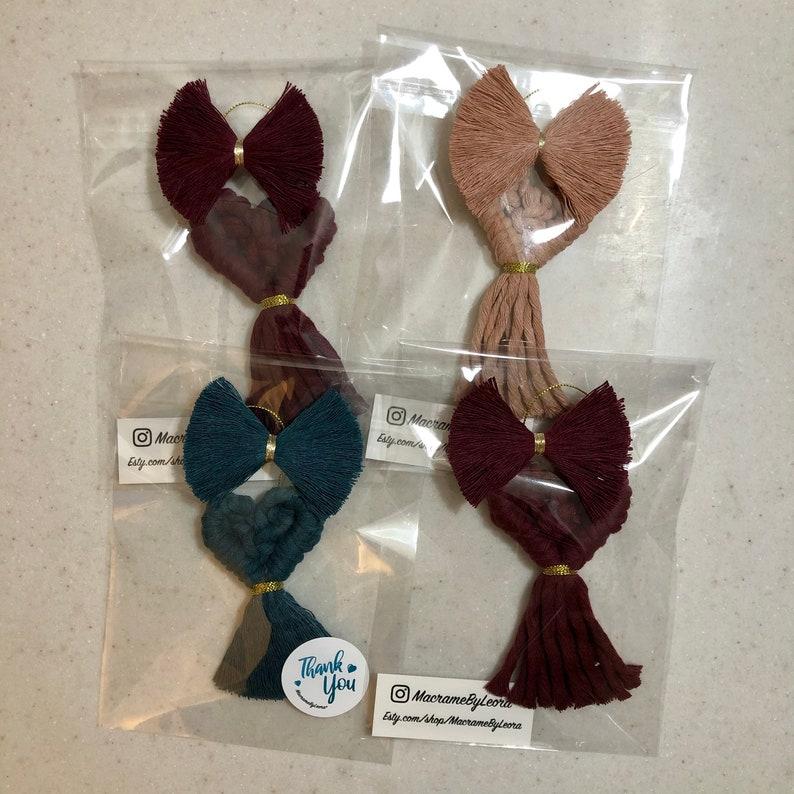gift bag trimming wrapping trim Valentine\u2019s Day heart wine ornament topper Macram\u00e9 Heart Ornament small heart wall decor