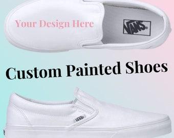 Custom Hand-painted Van's - Made to order