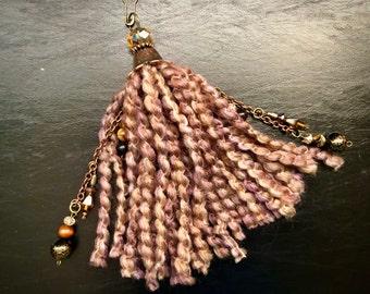 Fall Tassel, Bead Cap Tassel, Junk Journal Tassel, Handmade Tassel, Tassel for Junk Journals, Embellishment, Ornament, Home Decor Tassel