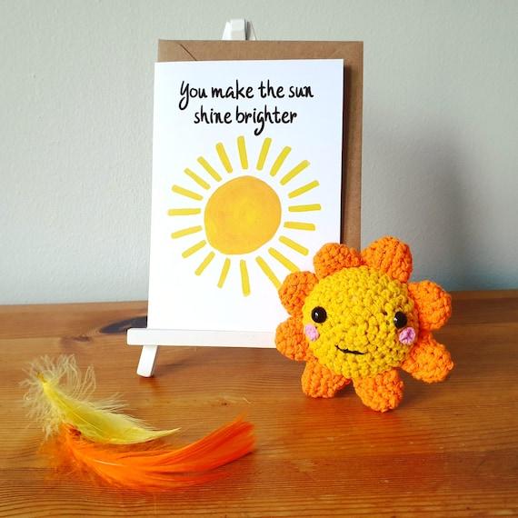 Sunshine crochet and greeting card gift set | Random Act of Kindess, Uplifting, Joy, Gift set, Card writing service, Ray of Sunshine, RAOK