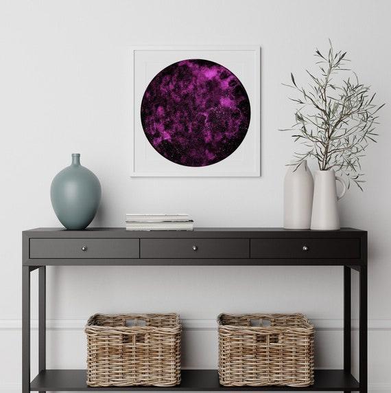 Violet moon watercolour print