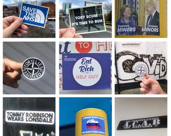 Mixed Political Stickers