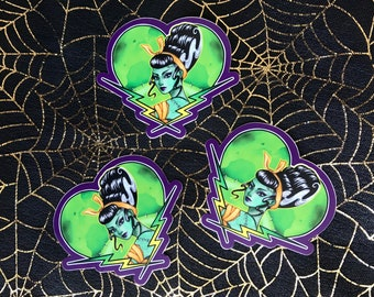 Bride of Frankenstein Vinyl Die Cut Sticker Monster Girl Pinup Horror Movie Classic Universal Monsters