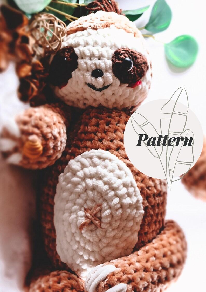 Sloth Crochet Pattern: Mr. Louie  Big Amigurumi Sloth Pattern image 0
