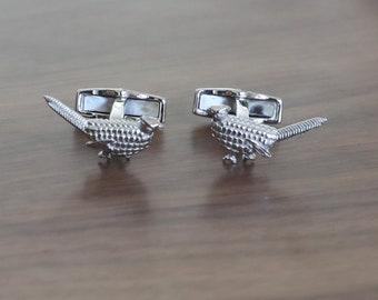 925 Sterling Silver Bird Pheasant Cufflinks Best Wedding Birthday Gift
