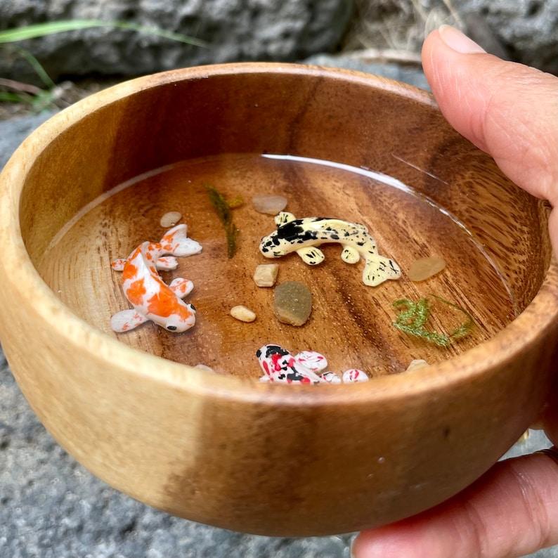 Koi Fish Resin Bowl Made Of Resin