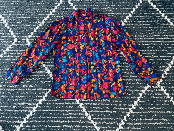 Colorful vintage painted blouse