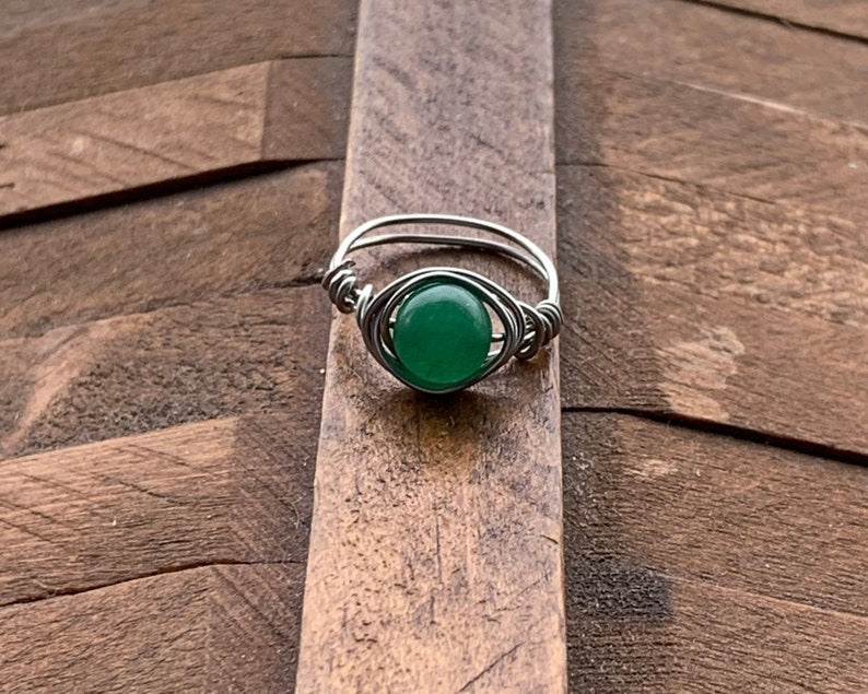 gemstone handmade wire wrapped rings