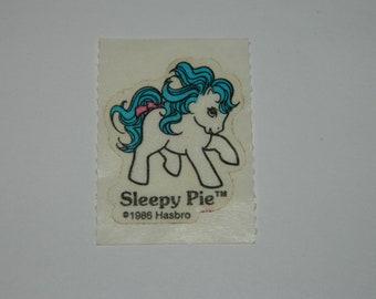 195-51 My Little Pony G1 Vintage City Kids Pony Wear Flat Sticker UnusedNew