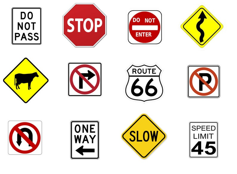 Street signs Edible Image Toppers Pre-cut Round Edible Stickers.