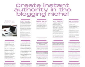80 Ways to Boost Your Blog Traffic PLR Ebook Canva Templates, COMMERCIAL USE, Printable Blog Planner,Editable Blog Ebook Template