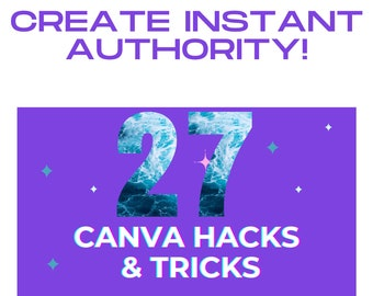 27 Canva Hacks Slideshow Presentation PLR, DFY Content, PLR Content for Bloggers, Commercial Use