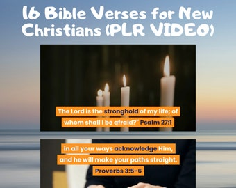VIDEO, Bible Verses for New Christians, Easy to Voice Over or Leave As Is! Religious PLR