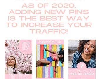 Canva Pinterest Templates, COMMERCIAL USE OK, Pretty in Pink Pinterest Templates, Canva Templates