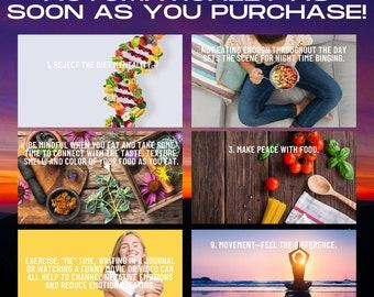 Intuitive Eating Canva Templates | COMMERCIAL USE OK | Editable Canva Template Slideshow Presentation