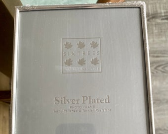 """SIXTREES AUSTEN VINTAGE ORNATE PHOTO FRAME SILVER PLATED 2/"""" X 3/""""  2-534-23"""