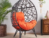 Borman Wicker Teardrop Swing Chair