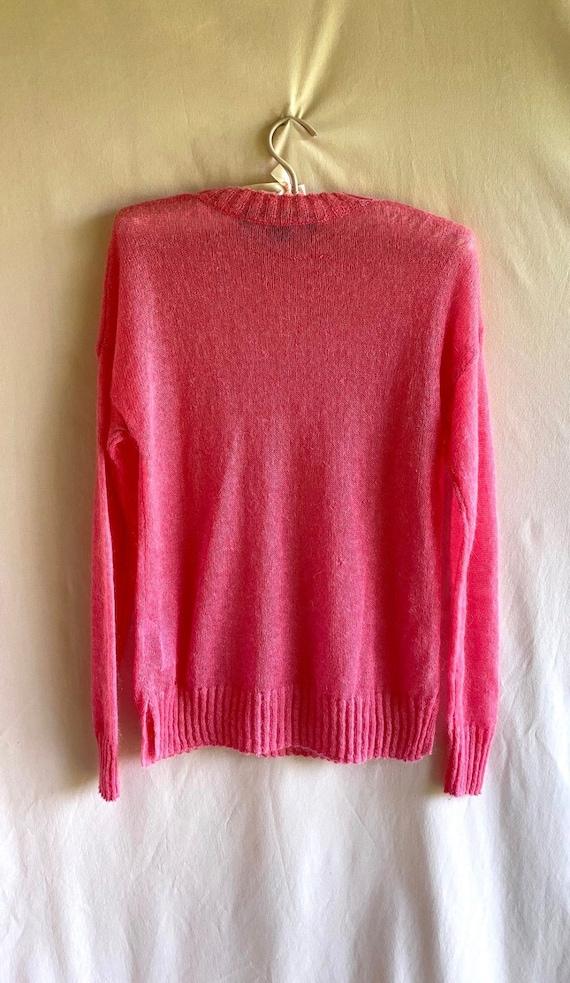 Hot Pink Knit Sweater - image 3