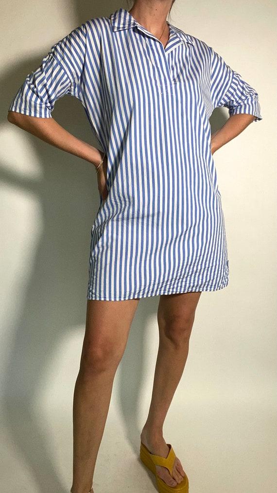 Kule Striped Shirt Dress