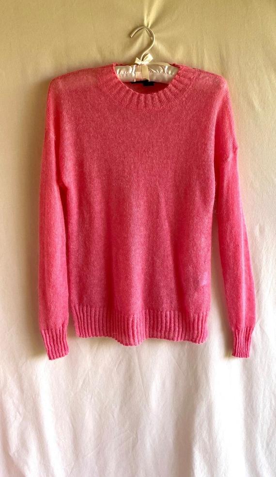 Hot Pink Knit Sweater - image 2