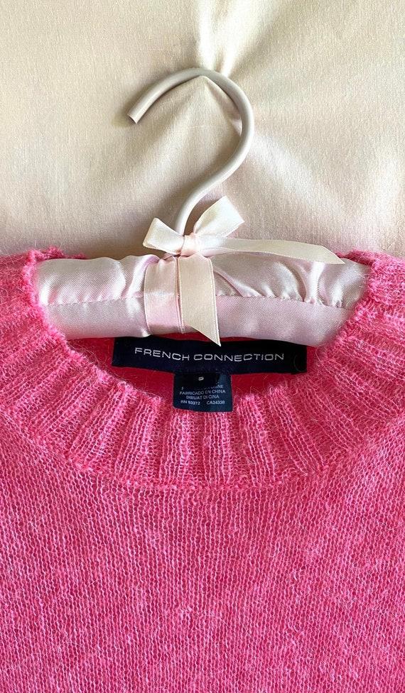 Hot Pink Knit Sweater - image 4