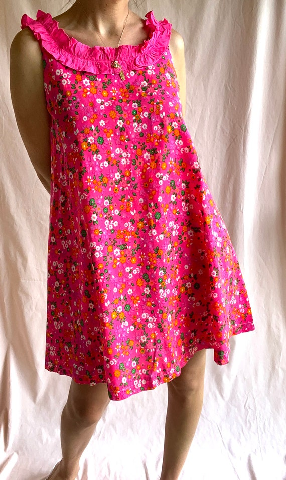 Vintage Floral Babydoll Dress