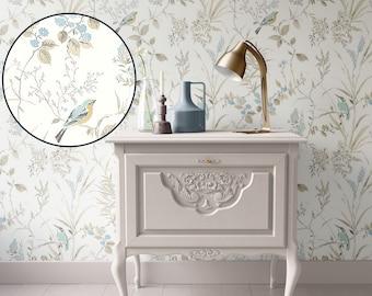 Dollhouse Wallpaper, Miniature 1:12, Cream  Floral