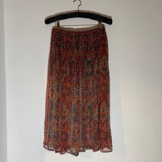 Liberty of London Vintage Pure Silk Chiffon Skirt