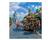 Cutting Board - Glass - Rectangle - Sublimated quot A magical place quot