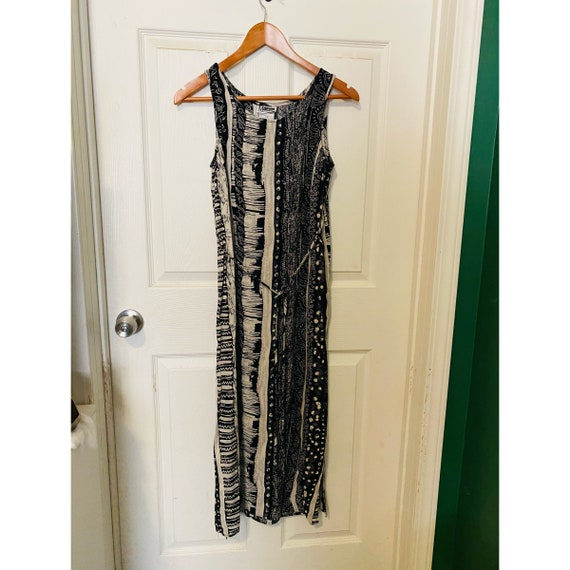 Vintage 1990s M Collection black and white long m… - image 1