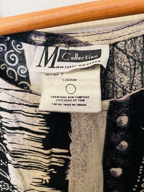 Vintage 1990s M Collection black and white long m… - image 3